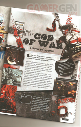 God of War Ghost of Sparta page magazine