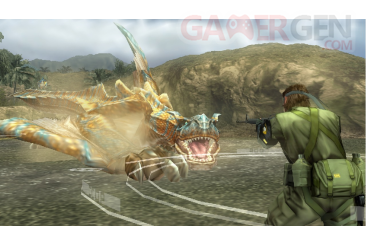 Metal-Gear-Solid-Peace-Walker-niveau-bonus-Monster-Hunter-wyverns-felyne049