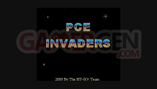 TurboGrafx-16 PCE invaders menu