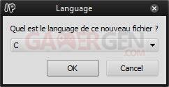 PSP IDE langage