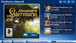 Mise à jour Playstation Store (2)