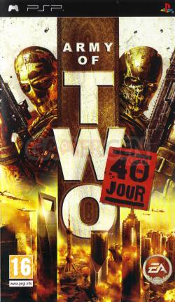 jaquette Army of Two 40ieme jour face PSP