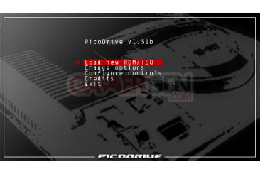 PicoDrive 1.51b - menu