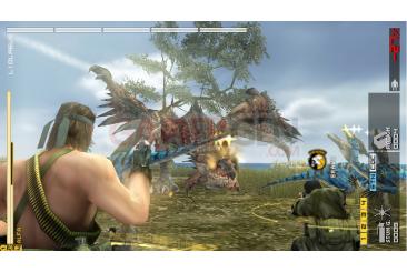 Metal-Gear-Solid-Peace-Walker-niveau-bonus-Monster-Hunter-wyverns-felyne016