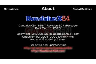 Daedalus X64 révision 607 0003