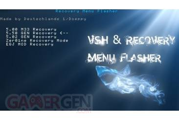 VSH and Recovery Menu Flasher003