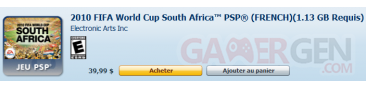 fifa world cup south africa world cup french psp