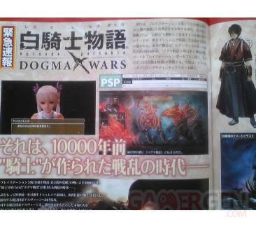 White Kight Chronicles Portable Dogma Wars scan Famitsu
