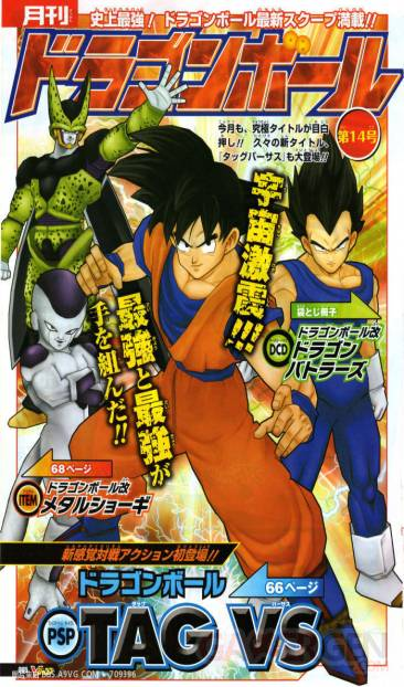 Dragon Ball Tag Versus Tenkaichi Team DBZ PSP scan V jump (3)