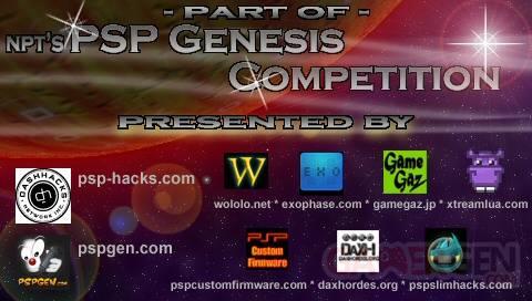 PSP genesis competition splashscreen