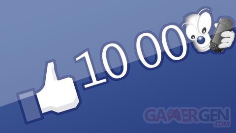 10 000 J'aime Facebook PSPGen