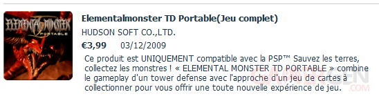 elemental monster TD portable