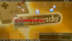 Emulateurs Sega MasterBoy 2.2 - menu