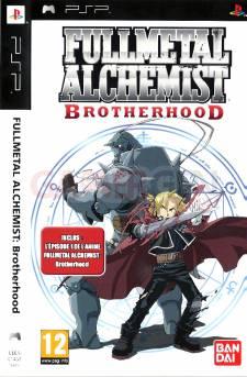 Fullmetal alchemist brotherhood jaquette front PSP