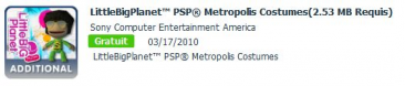 LittleBigPlanet PSP Metropolis Costumes