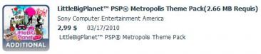 LittleBigPlanet PSP Metropolis theme pack