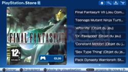 Mise à jour Playstation Store (1)