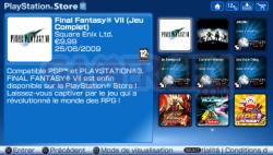 Mise à jour Playstation Store