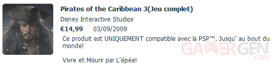 pirate caraibe 3 psn