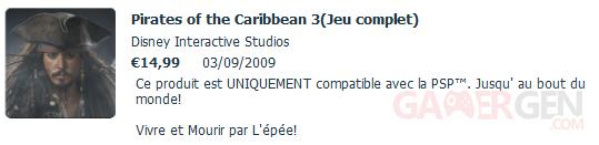 pirate caraibe 3 psn