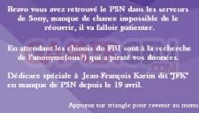 Retrouvez le PSN 008