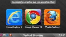 VerMinE Browsers - Choix des navigateurs